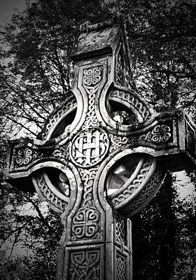 Christian Photograph - Celtic Cross Detail Killarney Ireland by Teresa Mucha