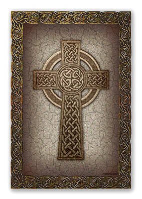 Celtic Knot Digital Art - Celtic Cross by Ernestine Grindal