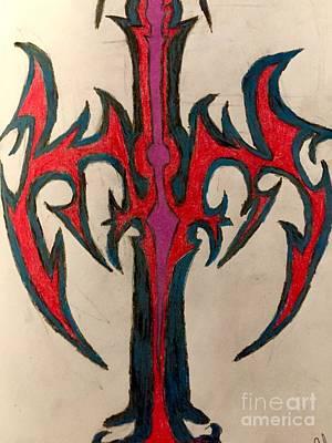 Celtic Cross Drawing - Celtic Cross by Shylee Charlton
