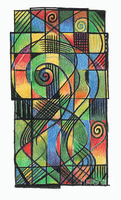 Celtic Cross Drawing - Celtic Cruciform  by Andy  Mercer