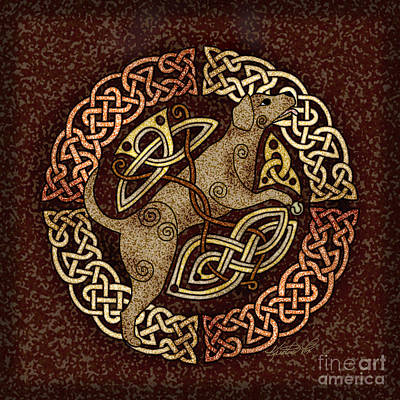 Mixed Media - Celtic Dog by Kristen Fox
