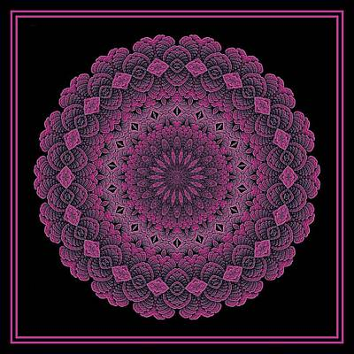 Digital Art - Celtic Doily Pink Tile by Doug Morgan