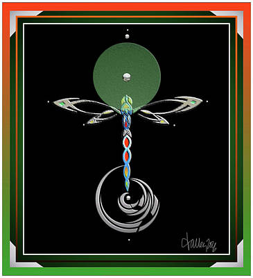 Digital Art - Celtic Dragonfly by Larry Talley