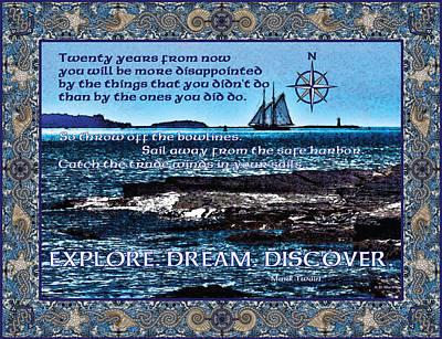Inspirational Digital Art - Celtic Explorer by Celtic Artist Angela Dawn MacKay