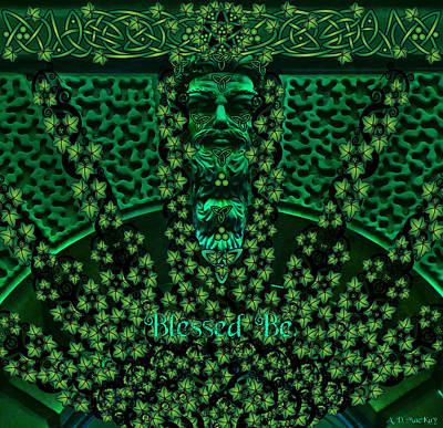 Digital Art - Celtic Green Man by Celtic Artist Angela Dawn MacKay