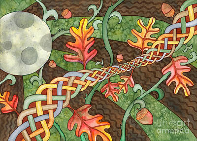 Painting - Celtic Harvest Moon by Kristen Fox
