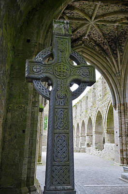 Photograph - Celtic High Cross And Vaulted Gothic Ceiling Jerpoint Abbey County Kilkenny Ireland by Shawn O'Brien