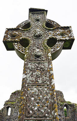 Photograph - Celtic High Cross At Athassel Priory County Tipperary Ireland by Shawn O'Brien