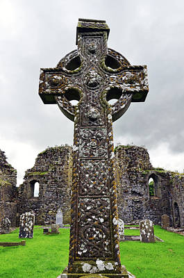 Photograph - Celtic High Cross Athassel Priory County Tipperary Ireland by Shawn O'Brien