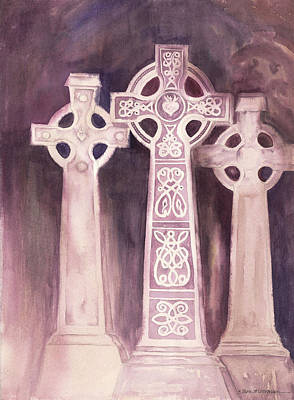Painting - Celtic High Crosses by Tara Moorman