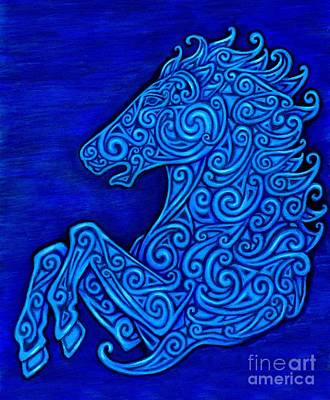 Drawing - Celtic Horse by Rebecca Wang