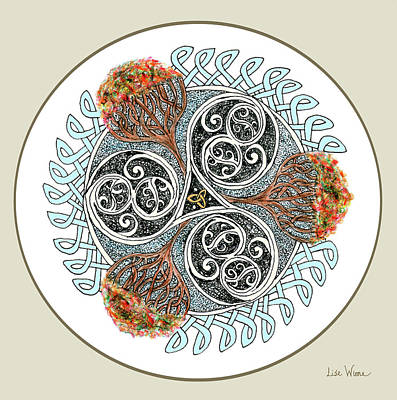 Painting - Celtic Inspired Button by Lise Winne