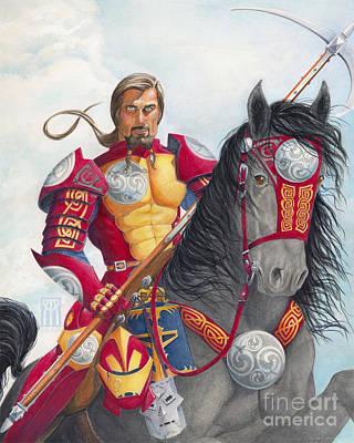 Celtic Iron Man Print by Melissa A Benson