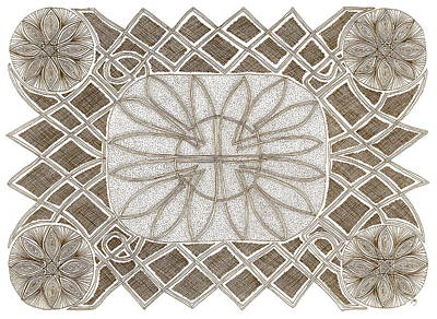 Drawing - Celtic Knot by Michele Bullock