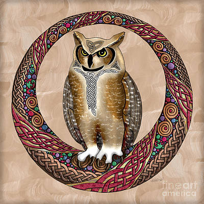 Photograph - Celtic Owl by Kristen Fox