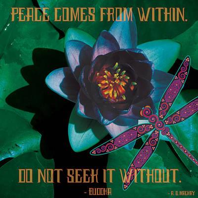 Digital Art - Celtic Peace by Celtic Artist Angela Dawn MacKay