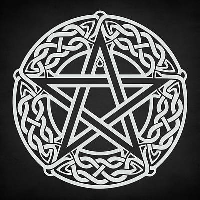 Digital Art - Celtic Pentagram by Taylan Apukovska