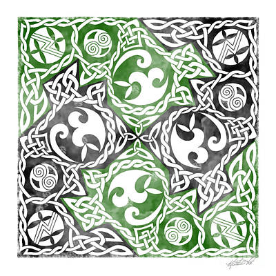 Print featuring the photograph Celtic Puzzle Square by Kristen Fox