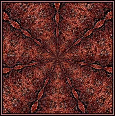 Digital Art - Celtic Ribbons Tile K7-2 Bronze by Doug Morgan