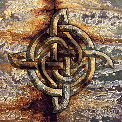Mixed Media - Celtic Rock Knot by Kristen Fox
