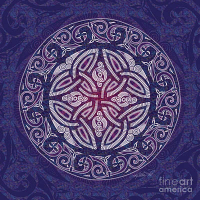 Print featuring the mixed media Celtic Shield by Kristen Fox