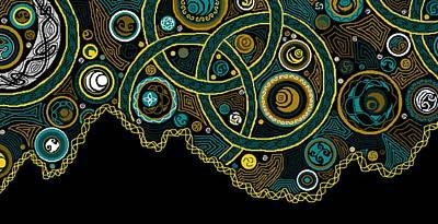Christina Digital Art - Celtic Sky by Christina Heyworth