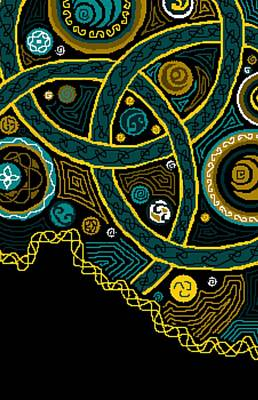 Christina Digital Art - Celtic Sky Triptych B by Christina Heyworth