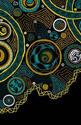 Christina Digital Art - Celtic Sky Triptych C by Christina Heyworth