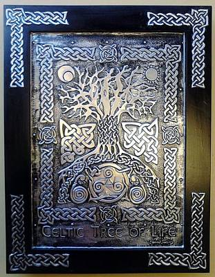 Metal Embossing Relief - Celtic Tree Of Life by Cacaio Tavares