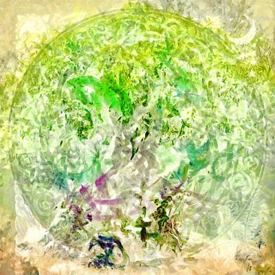 Digital Art - Celtic Tree Of Life by Caito Junqueira