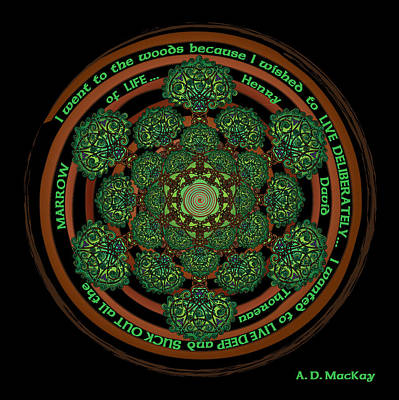 Digital Art - Celtic Tree Of Life Mandala by Celtic Artist Angela Dawn MacKay