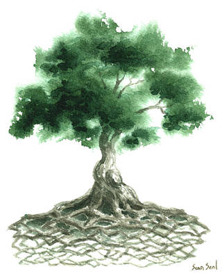 Tree Of Life Painting - Celtic Tree Of Life by Sean Seal