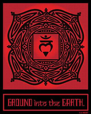 Mandala Digital Art - Celtic Tribal Root Chakra by Celtic Artist Angela Dawn MacKay