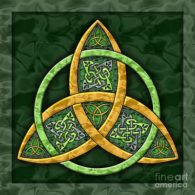 Celtic Knot Painting - Celtic Trinity Knot by Kristen Fox