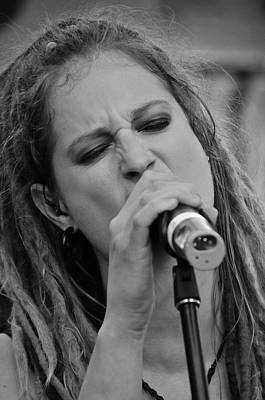 Photograph - Celtica's Josy - Black And White by Mike Martin