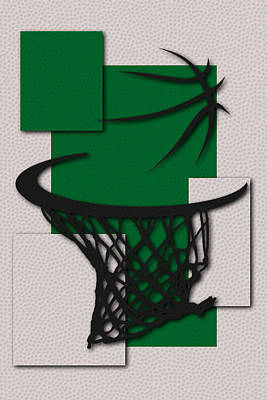 Celtics Hoop Print by Joe Hamilton