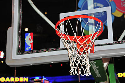 Photograph - Celtics' Net by Mike Martin