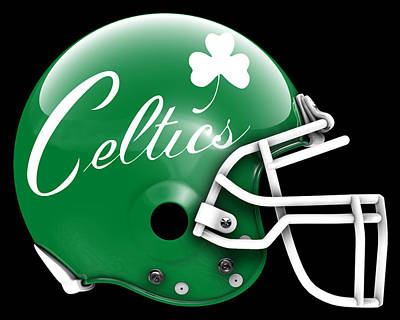 Painting - Celtics What If Its Football by Joe Hamilton