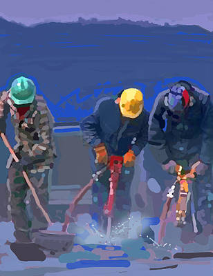 Construction Painting - Cement Breakers by Brad Burns