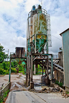 Cement Photograph - Cement Plant by Pittsburgh Photo Company