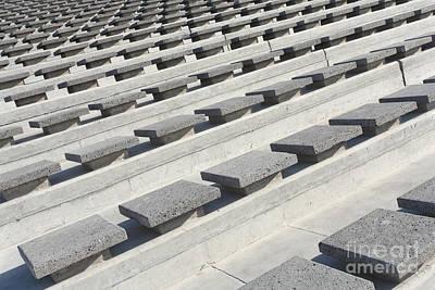 Cement Seats Print by Gaspar Avila