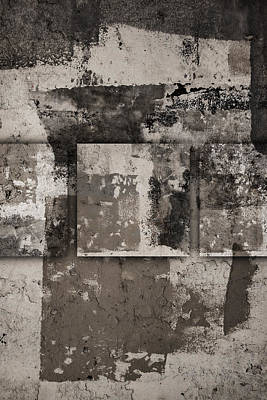 Rectangles Photograph - Cement Squares Number Four by Carol Leigh