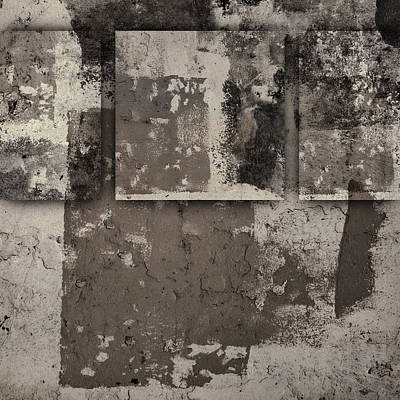 Montage Photograph - Cement Squares Number One by Carol Leigh