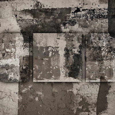 Cement Squares Number Three Art Print by Carol Leigh
