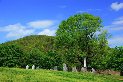 Photograph - Cementary Along The At With Maryland Heights In The Background by Raymond Salani III