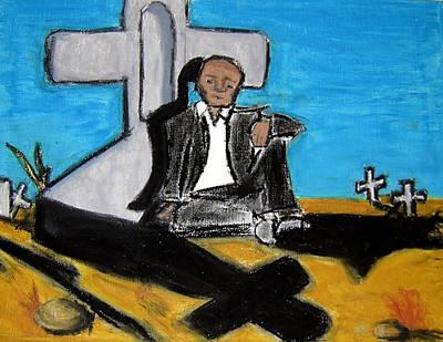 Religious Drawings Mixed Media - Cemetary by Jera Sky