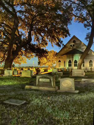Photograph - Cemetery At Night by Charles McKelroy