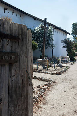 Photograph - Cemetery At San Miguel Mission by Suzanne Gaff