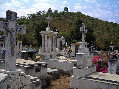 Photograph - Cemetery At San Sebastian by Enzie Shahmiri