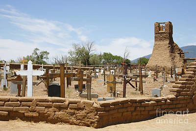 Photograph - Cemetery At Taos Pueblo by Stan and Anne Foster